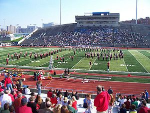 Robert K. Kraft Field at Lawrence A. Wien Stadium - Image: Bigredmarchingband