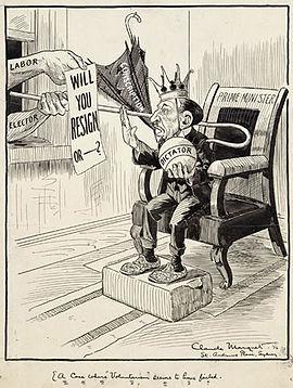 Billy Hughes nach der Volksabstimmung, 1916.jpg