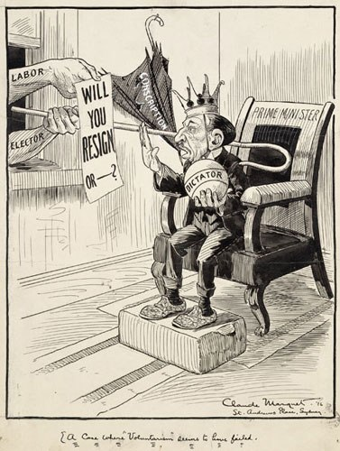 Billy Hughes after the Plebiscite, 1916
