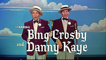 White Christmas trailer Bing Crosby and Danny Kaye in White Christmas trailer.jpg