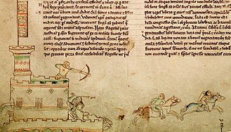 William Marshal, 1st Earl of Pembroke - A 13th-century depiction of the Second Battle of Lincoln, which occurred at Lincoln Castle on 20 May 1217; the illustration shows the death of Thomas du Perche, the Comte de la Perche