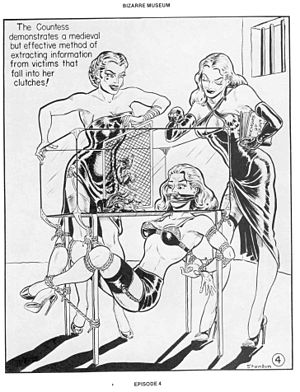 Rat torture - An erotic comic by Eric Stanton depicting rat torture