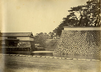 Ii Naosuke - Edo Castle's Sakurada Gate (Sakurada-mon) – photographed by Felice Beato, 1863–1870