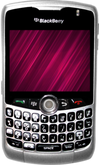 A photograph of the BlackBerry Curve