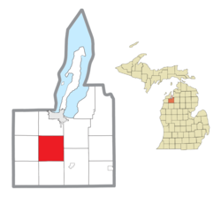 Location within Grand Traverse County