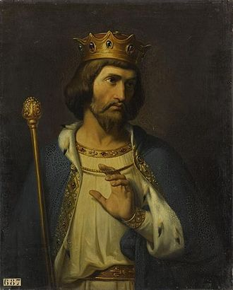Robert II of France - Imaginary Portrait  by Merry Joseph Blondel