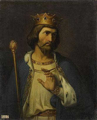 Robert II of France - Imaginary Portrait  by Merry Joseph Blondel
