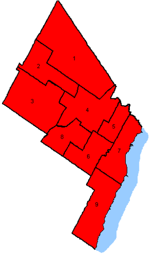 Canadian federal election results in Brampton, Mississauga and Oakville - Key map
