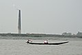 Boat and Chimney - River Ichamati - Hasnabad - North 24 Parganas 2015-01-13 4514.JPG
