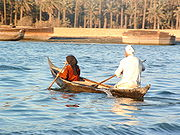 Boat on the Euphrates River