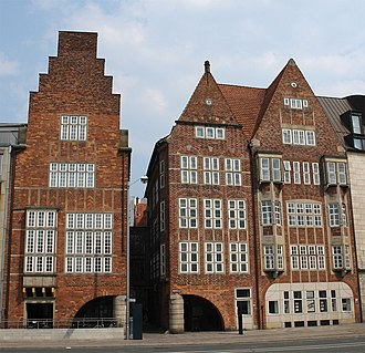 1931 in architecture - Robinson Crusoe House and Atlantis House on Böttcherstraße in Bremen