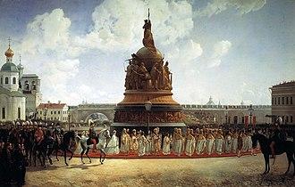 Bogdan Willewalde - Image: Bogdan Villevalde Opening of Millinium of Russia in 1862