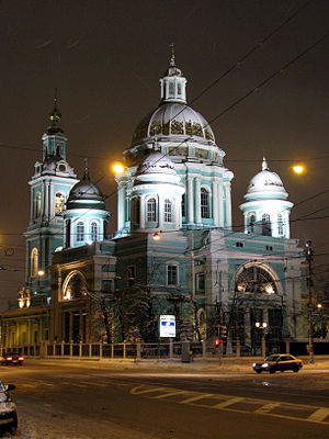 Yelokhovo Cathedral - The Epiphany Cathedral in Yelokhovo, Moscow (1835-45)