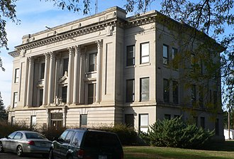 Bon Homme County, South Dakota - Image: Bon Homme County courthouse from SE 1