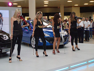 Bond (band) - Bond performing at the Metrocentre, Gateshead in promotion of the Peugeot 308CC