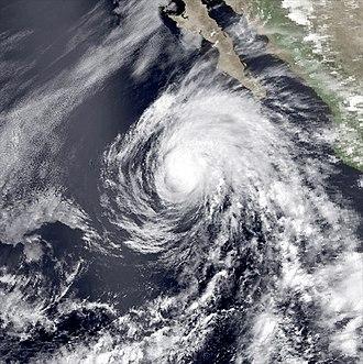1990 Pacific hurricane season - Image: Boris jun 5 1990 2137Z