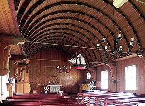 Born auf dem Darß - Image: Born Fischerkirche Okt 2010