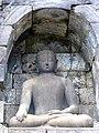Borobudur - Buddha Statue - 009 Bhumisparsa Mudra, Akshobhya (11679696586).jpg