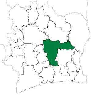 Bouaké Department - Bouaké Department upon its creation in 1969. It kept these boundaries until 1988, but other departments began to be divided in 1974.