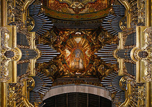 Braga Cathedral - Organ and ceiling of the High Choir