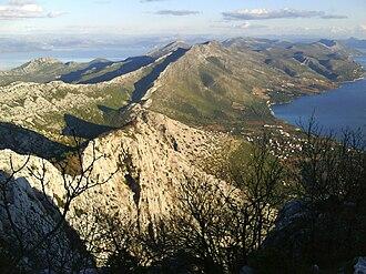Pelješac - Typical karst topography of Pelješac
