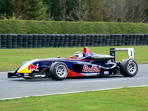 Brendon Hartley - Hartley driving for Carlin Motorsport at the Croft round of the 2008 British Formula 3 season.