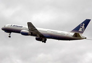 Britannia Airways Flight 226A - Image: Britannia.b 757 200.g byay.arp