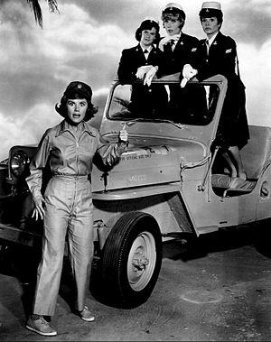 Broadside (TV series) - Kathleen Nolan with Sheila James, Joan Staley and Lois Roberts, 1964.
