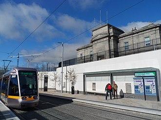 Dublin Broadstone railway station - Image: Broadstone DIT Luas Stop (Dublin)