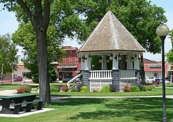The Broken Bow Commercial Square Historic District, centered on the public square, is listed in the National Register of Historic Places.[1]