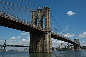 English: Brooklyn Bridge, as seen from the Man...