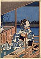 Brooklyn Museum - Moonlight View of Tsukuda with Lady on a Balcony - Utagawa Hiroshige (Ando).jpg