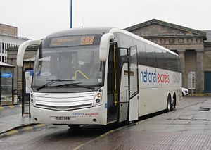 Coach (bus) - National Express Coaches Caetano Levante in the UK