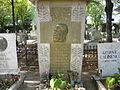 Bucuresti, Romania, Cimitirul Bellu Ortodox (Mormantul lui George Cosbuc - poet) (detaliu).JPG