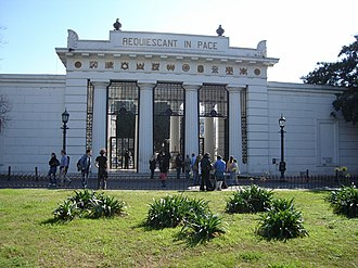 The Amazing Race 5 - Upon arriving in Buenos Aires, teams visited the grave of Evita Perón in la Recoleta Cemetery.