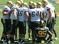Buffaloes in huddle at Colorado at Cal 2010-09-11 2.JPG