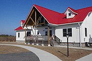 Building with a red roof at Kiptopeke State Park.jpg
