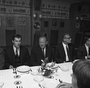 Franz Beckenbauer - Beckenbauer (left) after Bayern Munich's Cup Winners' Cup triumph in 1967