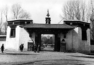 Norbulingka - Entrance to Norbulingka in 1938