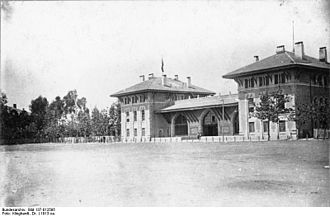 Baghdad railway - Central Station in Adana, Turkey, 1913.