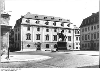Nikolaus Gromann - French or Green palace at Weimar, picture from 1991, later Herzogin Anna Amalia Bibliothek