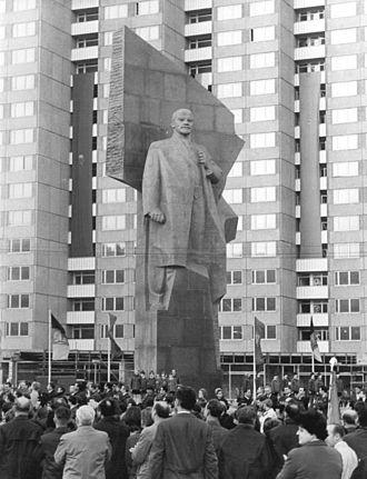 Nikolai Tomsky - Lenin in East Berlin, Germany, 1970, removed 1992