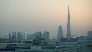 A small comparison of the Burj Khalifa (far ri...