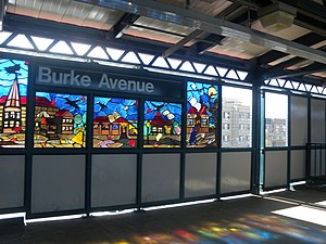 Burke Avenue (IRT White Plains Road Line) - Southbound platform