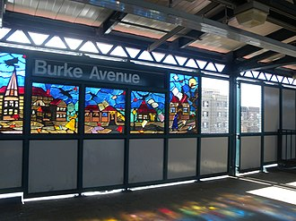 Burke Avenue (IRT White Plains Road Line) - Southbound platform
