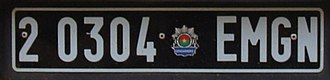 Vehicle registration plate - Burkina Faso Gendarmerie plate