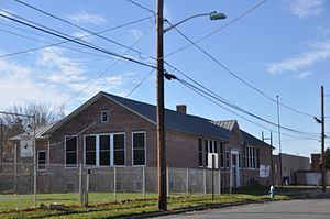 Burlington, New Jersey - The historic William R. Allen School was originally built for the education of black children.