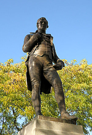Robert Burns (Stevenson) - Image: Burns Monument 1909