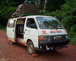Transport in Cameroon - Bush taxi in the East Province