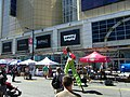Buskers on stilts, Buskerfest, 2014 08 24 -g (15024354151).jpg